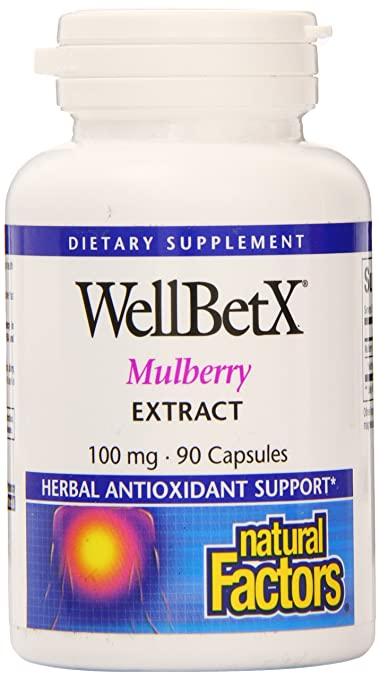 Amazon.com: Natural Factors - WellBetX Mulberry Extract, Herbal Antioxidant Support, 90 Capsules: Health & Personal Care