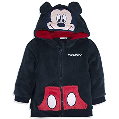 42d23935e4dc Disney Official Mickey Mouse Baby Boys Coral Fleece Hoodie Jumper ...