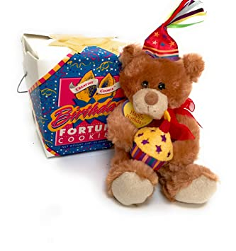 Amazoncom Happy Birthday Teddy Bear Fortune Cookies Gift Kosher