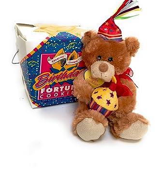 Amazoncom Happy Birthday Teddy Bear Fortune Cookies Gift Kosher