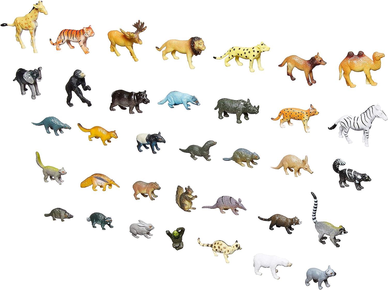 2 Packs of 12 Wild Jungle Small Animal Figurine Assortment Set