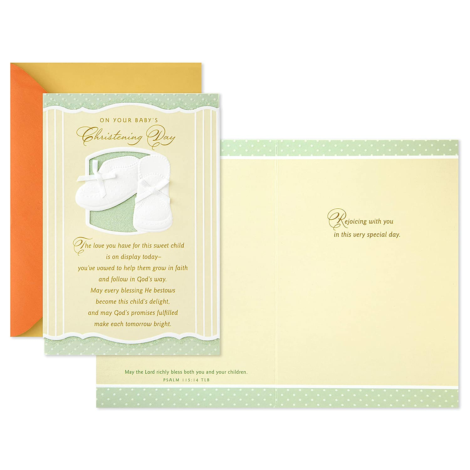 Dayspring Baptism Card Gods Peace and Love