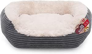 Rosewood 4300-40 Winks Jumbo Cord Plush Dog Bed, Grey