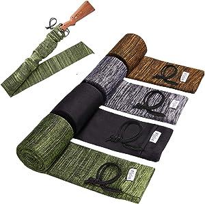 Flyfan Gun Sock Treated Knit Gun Socks for Rifles,Extra-Wide Rifle Sock,52
