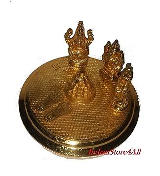 290d817bd07 Amazon.com  IndianStore4All Brass Laxmi Ganesh Saraswati Statue ...