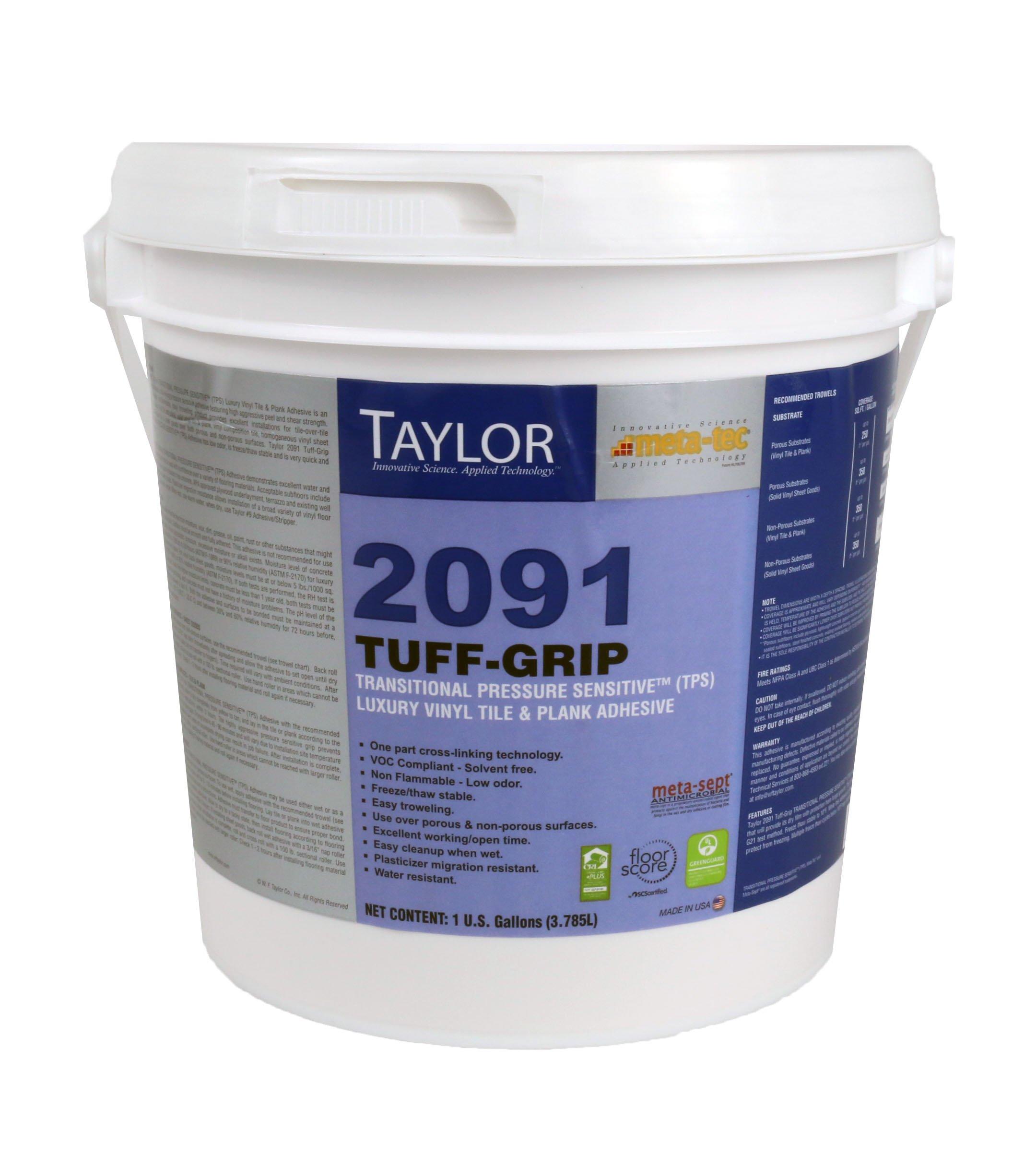 Taylor Meta-Tec 2091 Tuff-Grip Transitional Pressure Sensitive (TPS) Luxury Vinyl Tile & Plank Adhesive (1 Gallon)