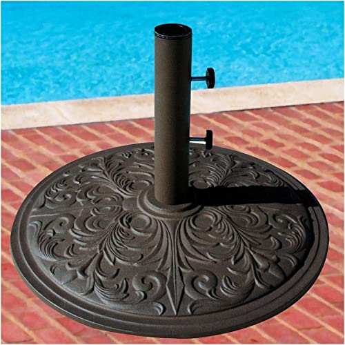 Market Umbrella Base Cast Iron with Bronze Powder Coating 50 Lbs.