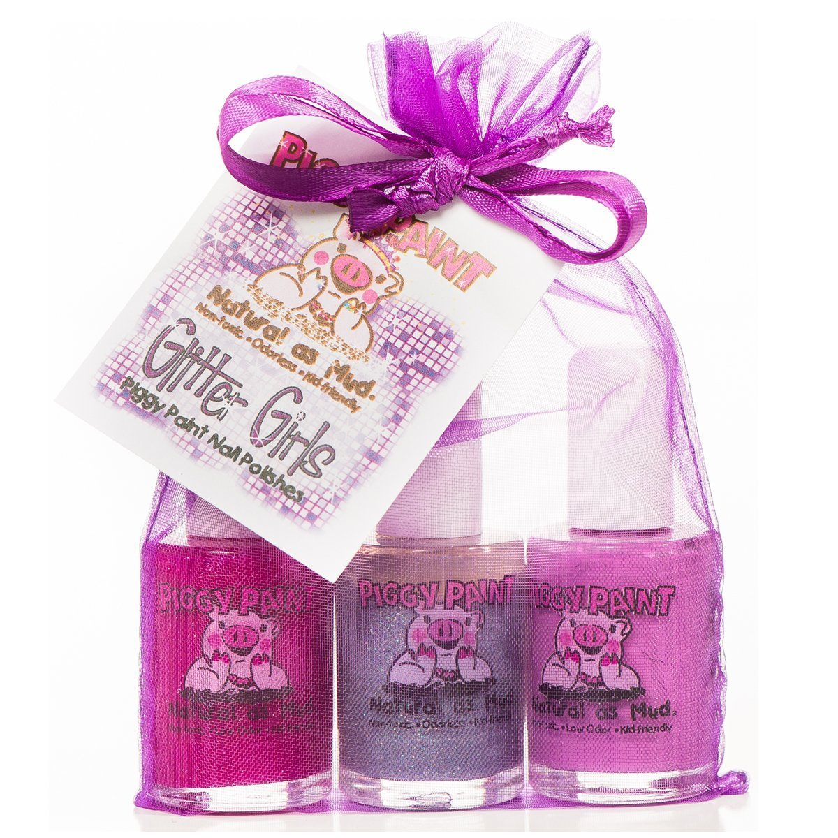 Amazon.com : Piggy Paint Gift Set, Glitter Girls : Non Toxic Glitter ...