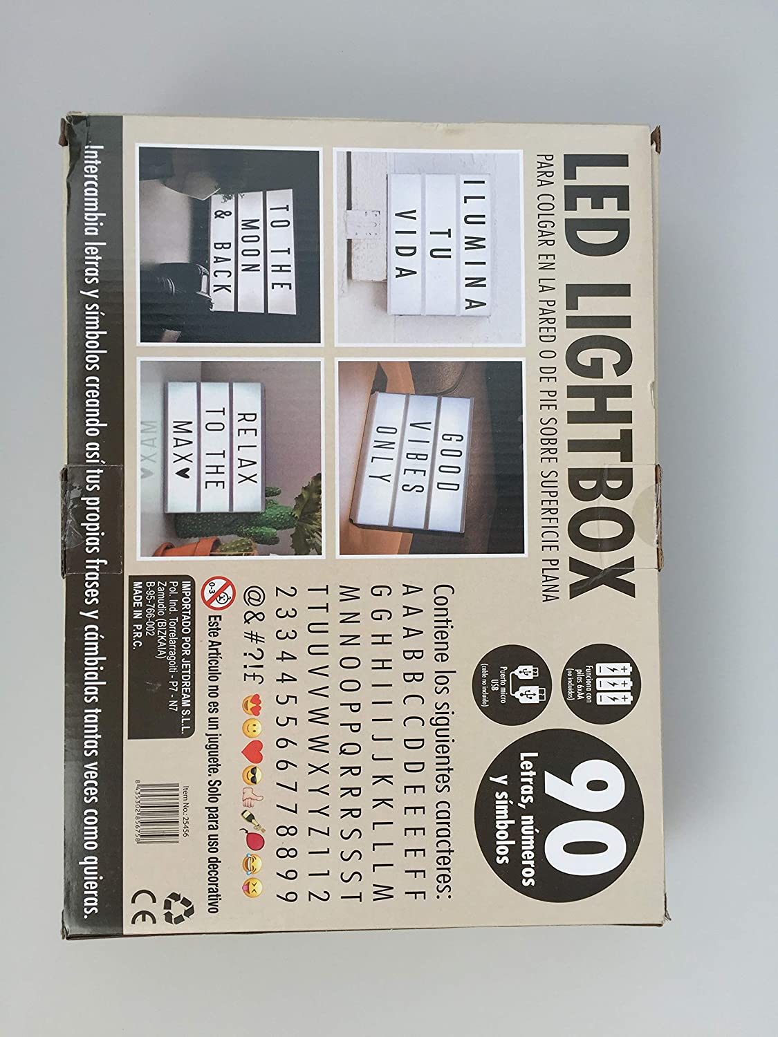 Light Box Led Lightbox With 90 Pieces Letters Emojis And
