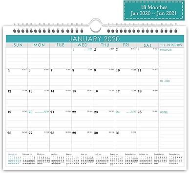2021 2020 2020 2021 Calendar Jan 18 Monthly Wall Calendar Large