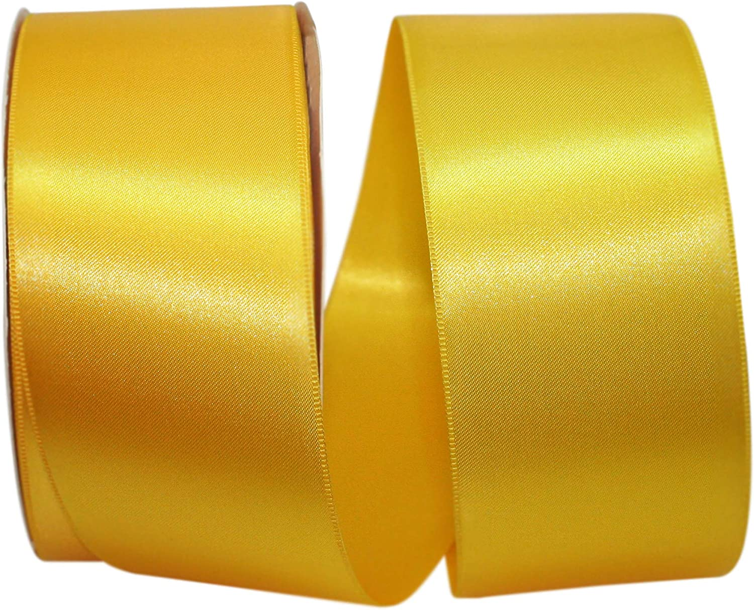 1-1//2 Inch X 100 Yards Apple Green Reliant Ribbon 5000-042-09C Double Face Satin Allure Dfs Ribbon