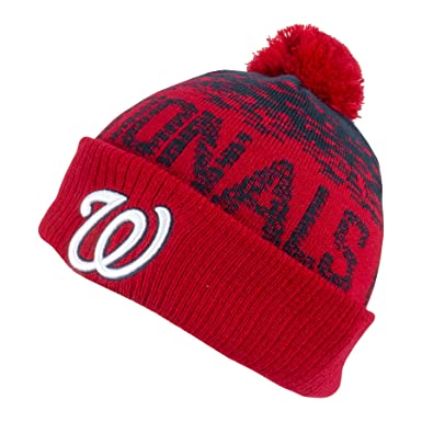 3b3998ed936 New Era MLB Sport Knit Washington Nationals Bobble Beanie Hat - O S ...