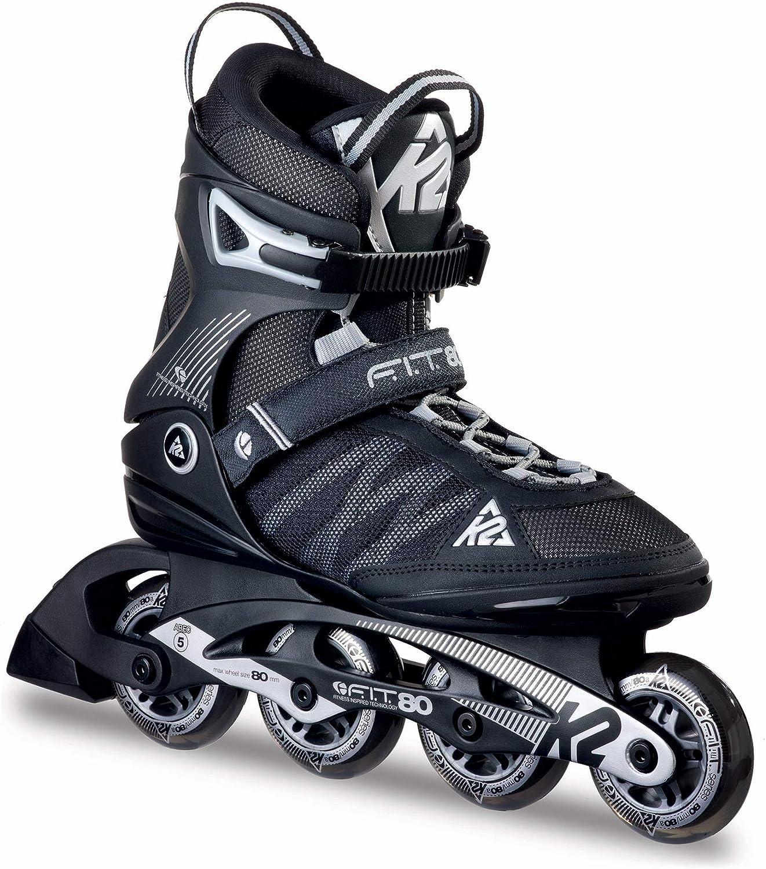 [ケーツー] メンズ インラインスケート F.I.T 80 エフアイティー 80 ブラック/シルバー I160200301 無 7/25.0cm