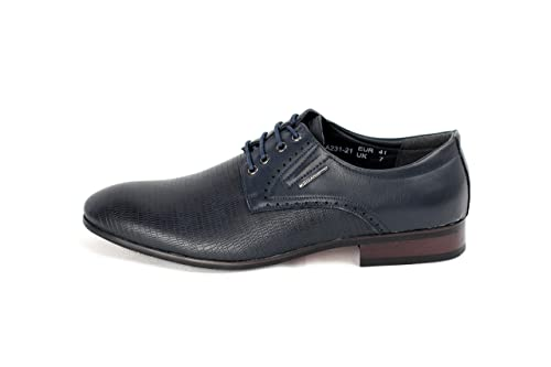 6b6ddb1875 Moda para hombre Italiano Vestido Zapatos - Azul Marino