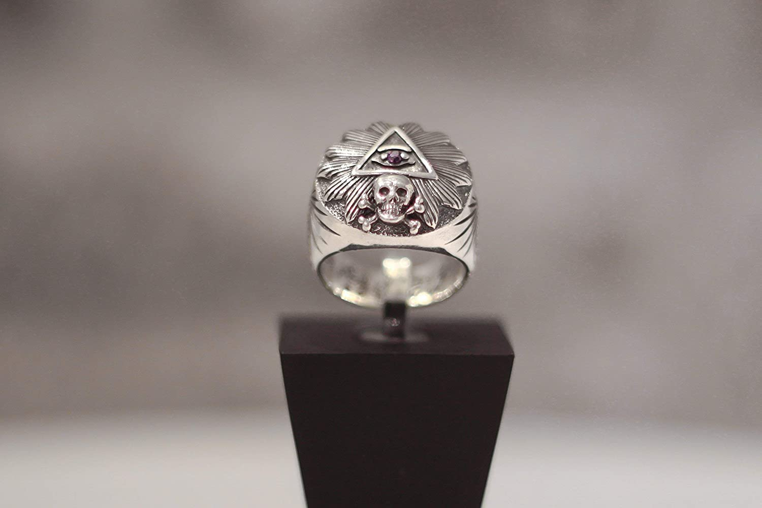 Amazon com: Illuminati Eye of Providence Ring Memento Mori
