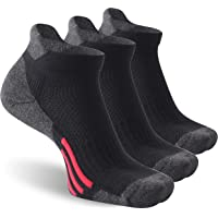 TJOY Cycling Socks for Men & Women, Breathable Low Cut Sports Tab Sock Performance Ankle Athletic Running Socks 3 Pack
