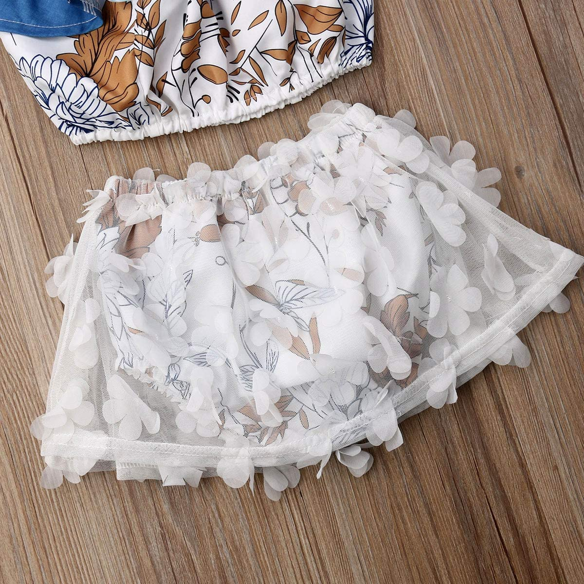 Newborn Kids Clothing Baby Girls Cute Ruffle Flower Vest Tank Top+Lace Bottom Shorts Pants 2Pcs Outfits Clothes Set