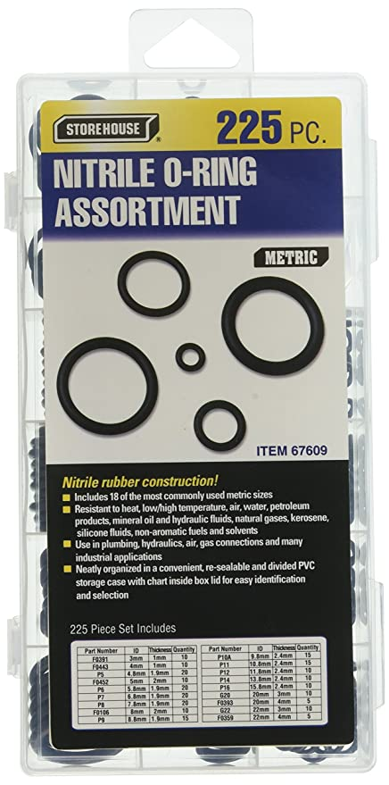 Amazon Storehouse 67609 Metric Nitrile O Ring 225 Piece O