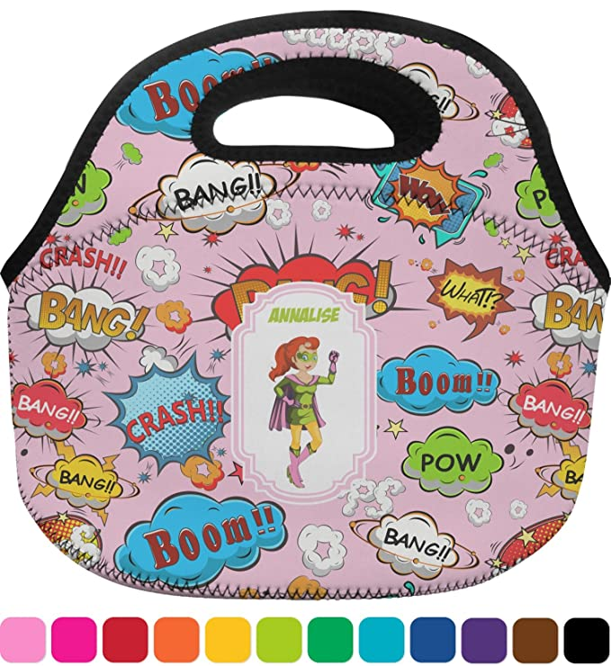 4cec68b13fa2 Amazon.com: Woman Superhero Lunch Bag - Large (Personalized ...