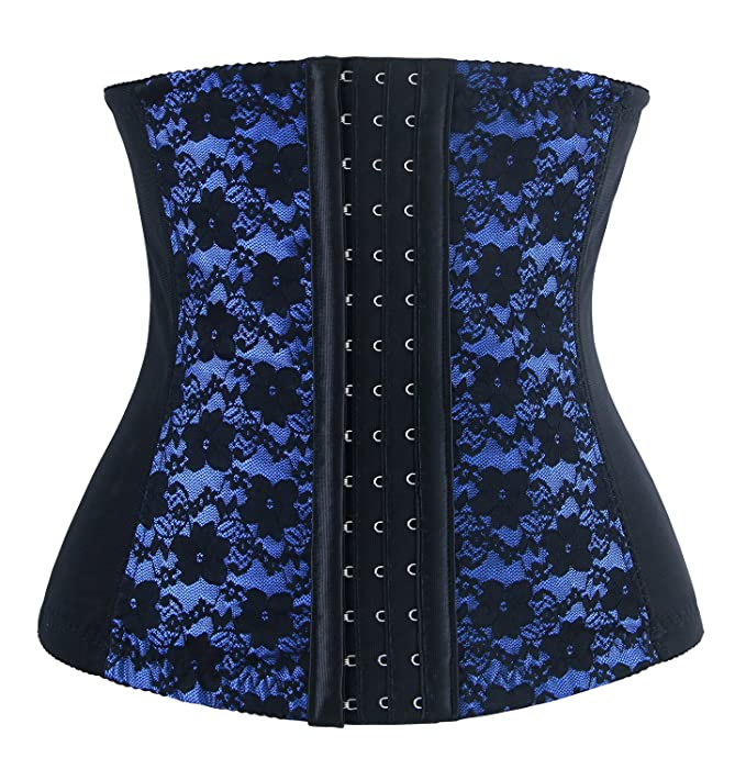 2dc655a05dc Charmian Women s Lace Waist Trainer Underbust Corset Bodyshaper Girdle  Shapewear Blue X-Small