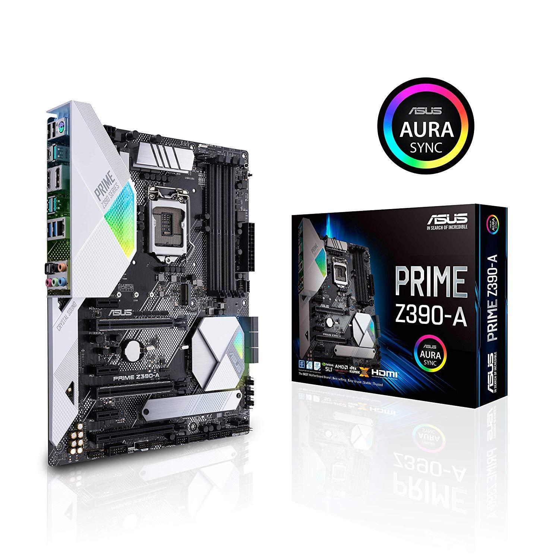 ASUS Prime Z390-A Motherboard LGA1151 (Intel 8th and 9th Gen) ATX DDR4 DP HDMI M.2 USB 3.1 Gen2 Gigabit LAN by ASUS