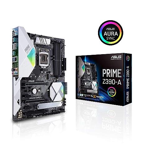 ASUS Prime Z390-A Motherboard LGA1151 (Intel 8th and 9th Gen) ATX DDR4 DP  HDMI M 2 USB 3 1 Gen2 Gigabit LAN