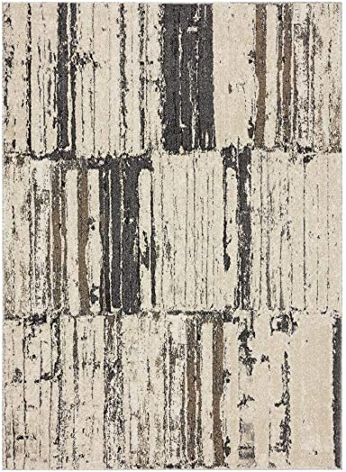 Luxe Weavers Tower Hill Abstract Gray 5×7 Area Rug