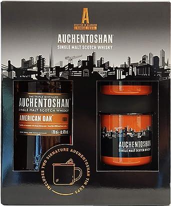 Auchentoshan Single Malt Scotch Whisky 40% + Pack Regalo 2 Tazas ...