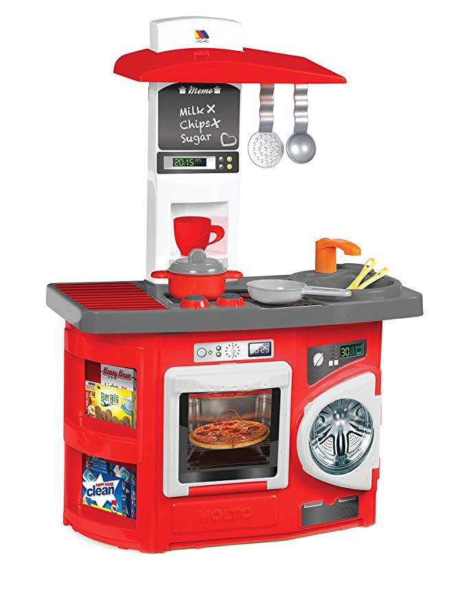 Moltó Cocina de juguete nueva con horno y lavadora (13154): Amazon ...