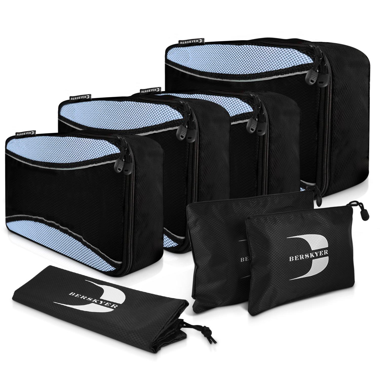 Set di Organizer per Viaggio Valigie 7pz – PREMIUM Packing Cubes con Borse per Vestiti, Lavanderia, Scarpe e Cosmetici - Ideale organizzatore per i tuoi Viaggi – 100% Garanzia di Soddisfazione