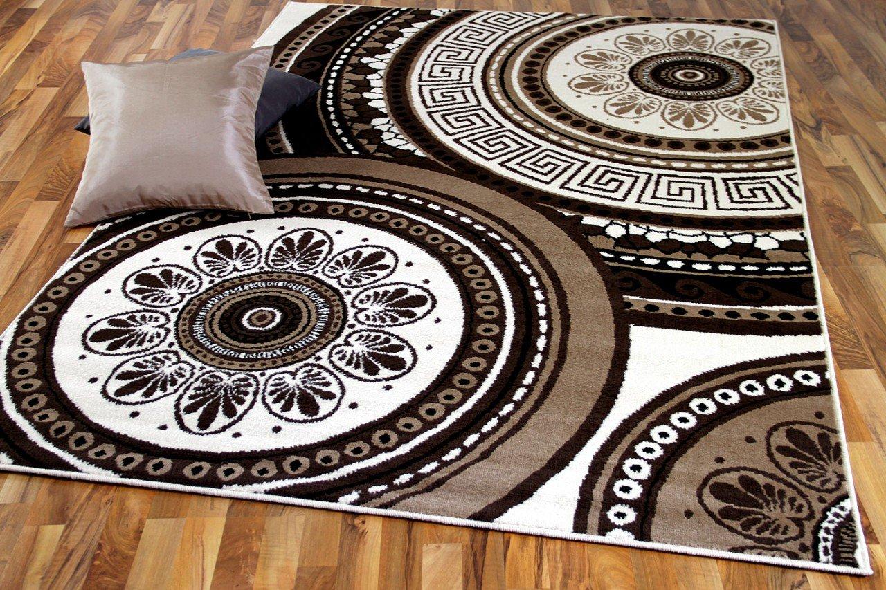 TrendLine Teppich Mandala Beige Braun in 4 Größen