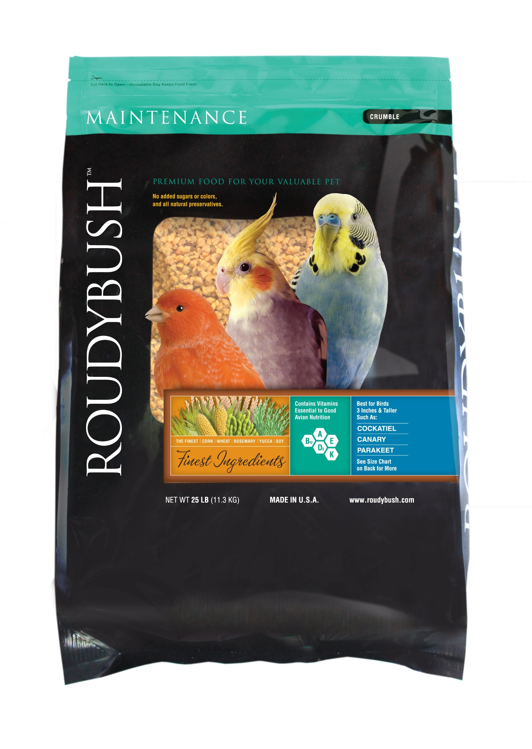 RoudyBush Daily Maintenance, Crumbles Bird Food, 25-Pound by RoudyBush