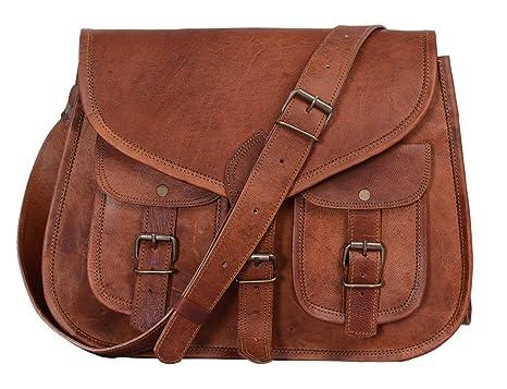 fecfb010e3 KPL 14 Inch Leather Purse Women Shoulder Bag Crossbody Satchel Ladies Tote Travel  Purse Genuine Leather  Amazon.ca  Luggage   Bags