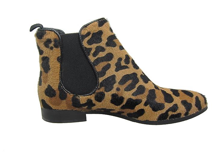 Damen Stiefelette Chelsea Lamica leopard EU 40: Amazon.de: Schuhe &  Handtaschen