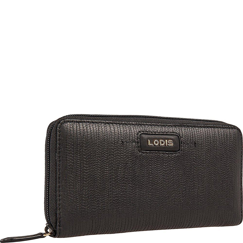 Lodis Women's Cordoba Ada Zip Wallet,Black,US by Lodis