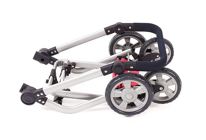 Amazon.com: Bayer Chic 2000 595 11 – Mika Combi Dolls Pram – Dots Navy: Toys & Games
