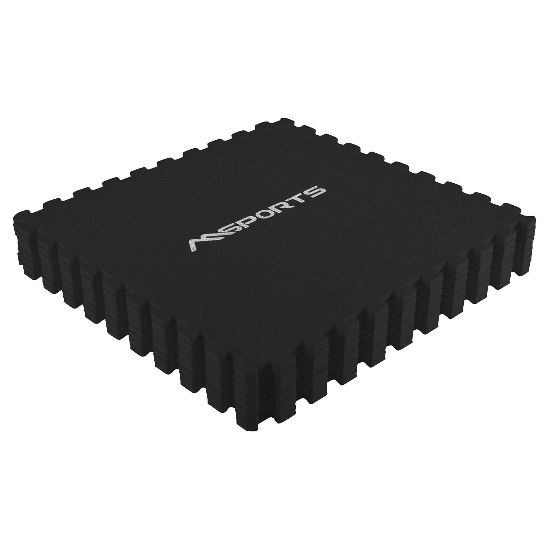 Bodenschutz 60x60 cm MSPORTS Bodenschutzmatten Set Premium 8 Schutzmatten in verschiedenen Farben 3,175m/² Puzzlematten Gymnastikmatte St/ärke: 1,0 cm