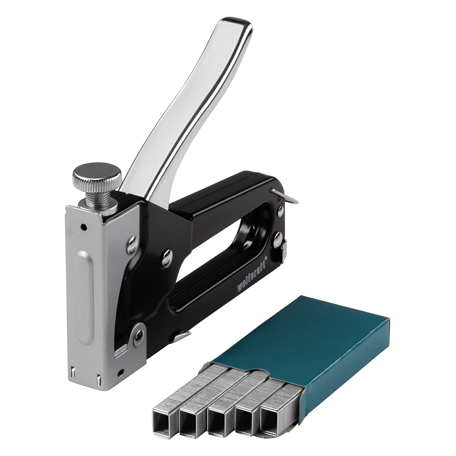 Wolfcraft 7088000 Tacker Set Tacocraft Type 053 Stapler with Metal Housing for 4-8mm Staples