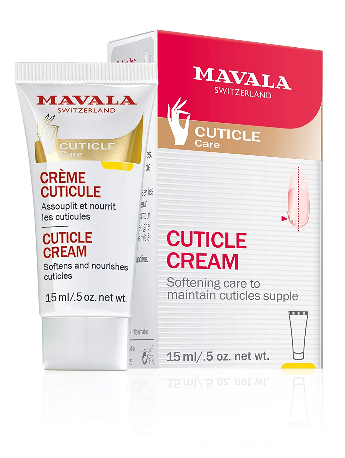 Mavala Cuticle Cream, Serum Conditioner for Nail Growth, Softening Cream to Maintain Healthy Cuticles, Support Cuticle Repair, Nail Care, 0.5 Ounce Bottle: Beauty
