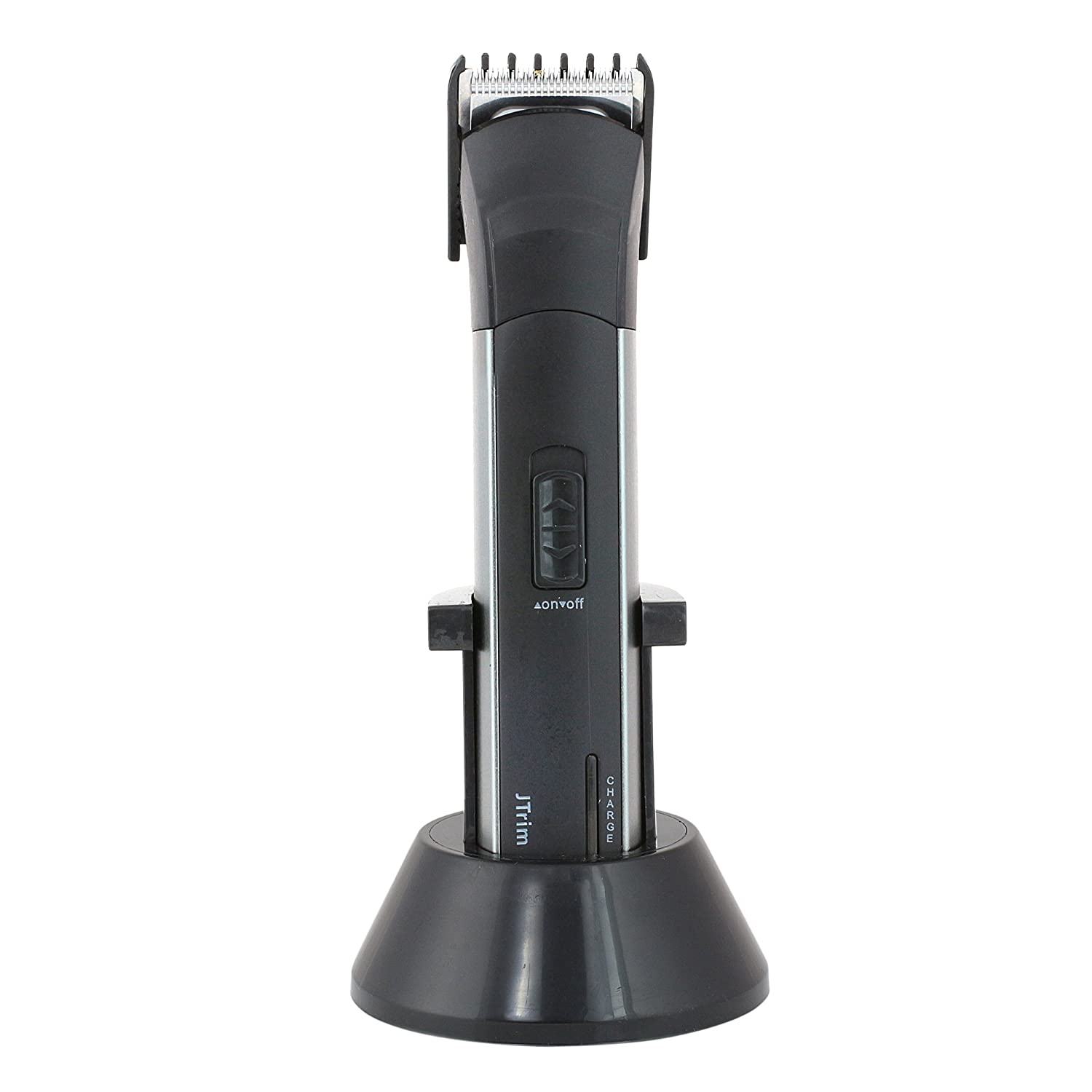 JTrim JPT-BT200 Rechargeable Stand Electric Cordless Beard Trimmer, Black Silver