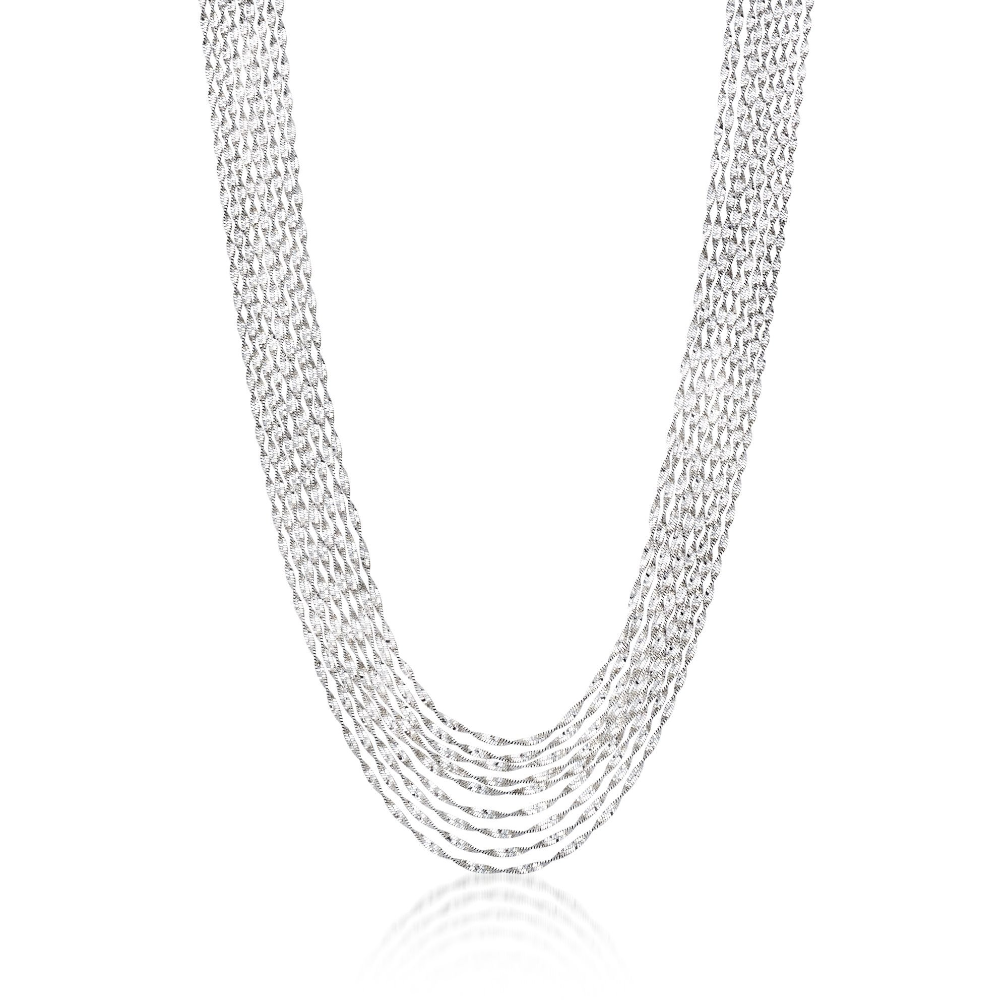 Ross-Simons Italian Sterling Silver Twisted Multi-Strand Necklace