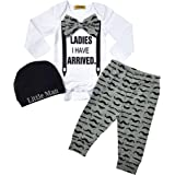 Newborn Baby Boy Clothes Outfit Hipster Bowtie...
