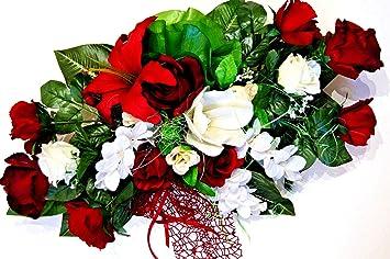 Hochzeit Deko Brautauto Autoschmuck Hochzeitsauto Strauss Kunstblumen