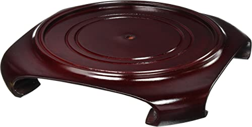Oriental Furniture Rosewood Vase Stand – Size 8.5 in. Base Diameter