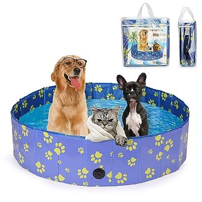 Pro Goleem Foldable Dog Pool Collapsible Bath Tub