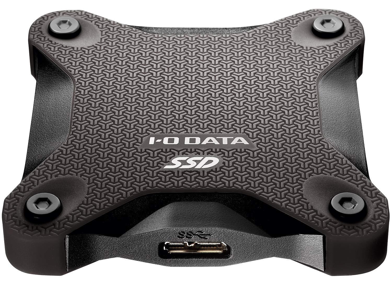 I-O DATA ポータブルSSD 480GB 小型 USB3.1(Gen1) 耐衝撃 Mac PS4 バスパワー対応 SSPH-UT480K/E