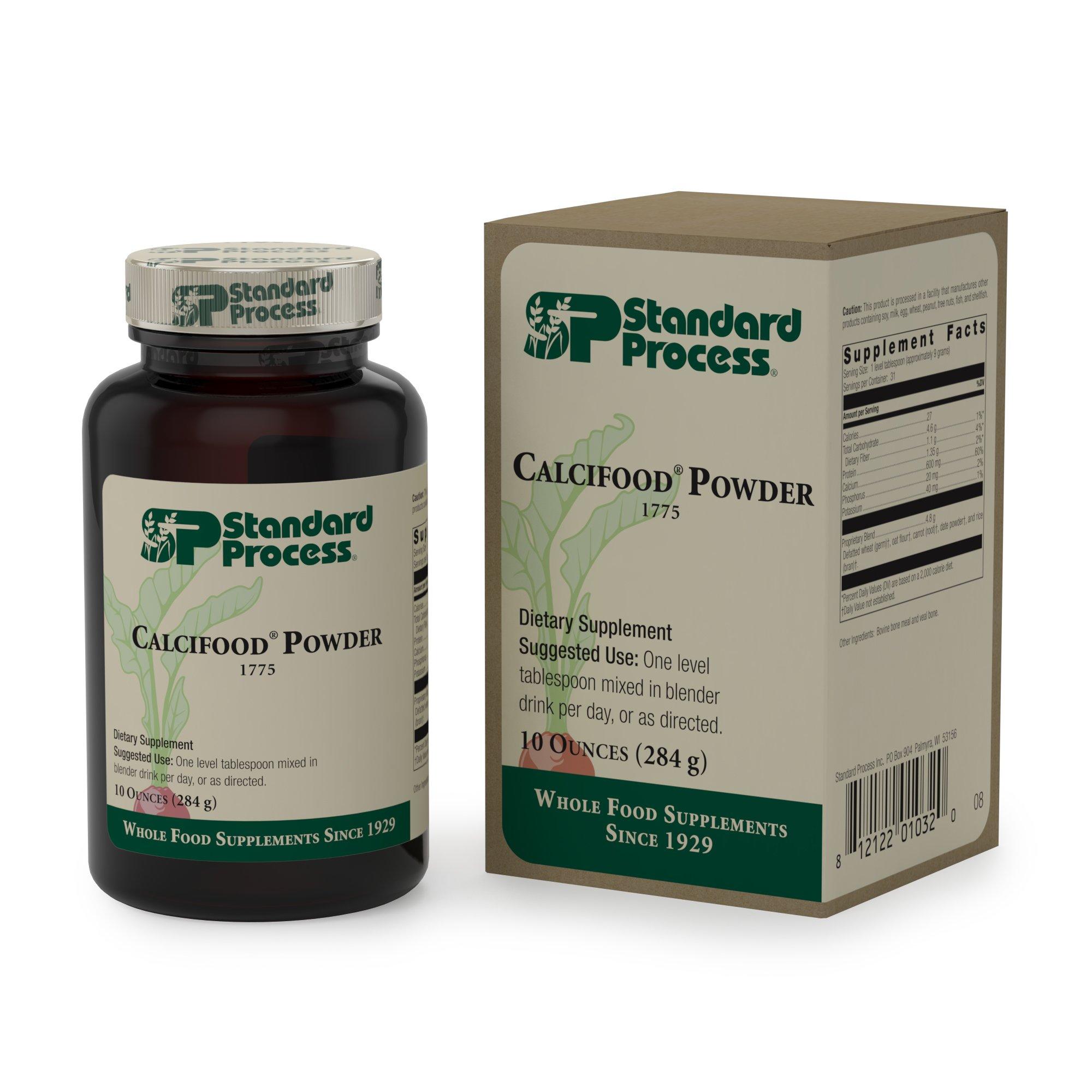 Standard Process - Calcifood Powder - Calcium Absorption Supplement, 600 mg Calcium, 20 mg Phosphorus, 40 mg Potassium, Supports Bone Health - 10 Ounces (284 Grams)