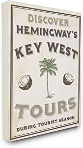 """The Stupell Home Décor Collection Hemingway's Key West Tours Oversized Stretched Canvas Wall Art, 24"""" x 30"""""""