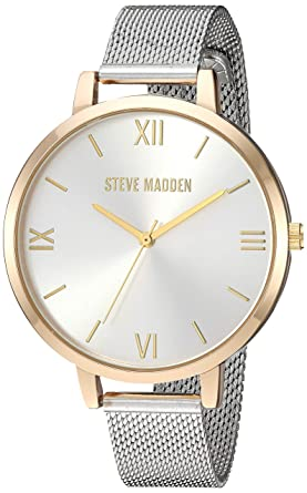acb044386b7 Amazon.com  Steve Madden Women s Quartz Watch with Alloy Strap ...