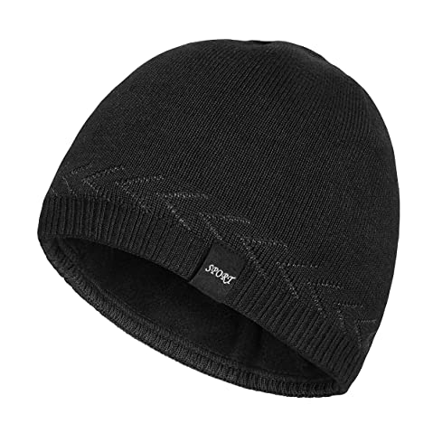 123249f7 OMECHY Mens Winter Warm Knitting Hats Plain Skull Beanie Cuff Toboggan Knit  Cap